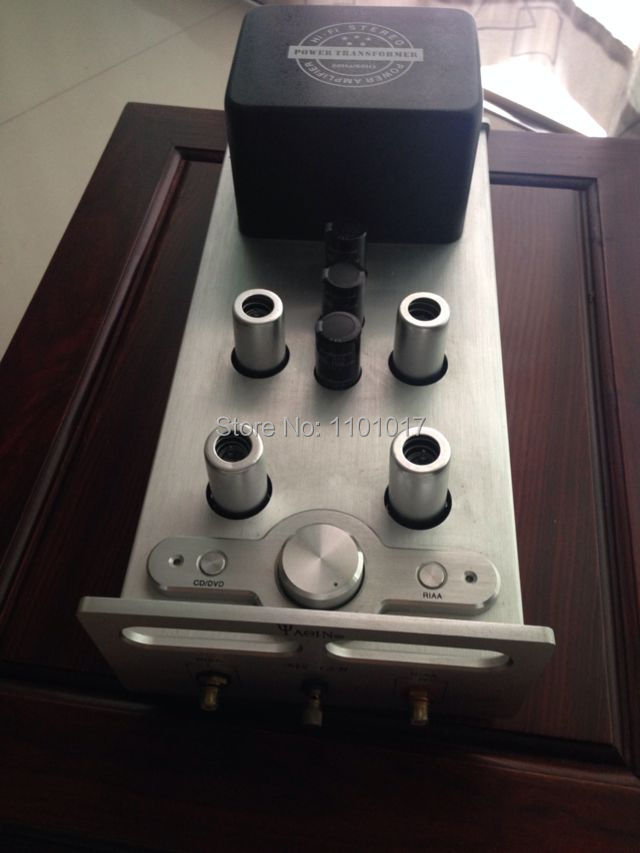 YAQIN MS-12B 12AX7 Tube Phono Stage Preamplifier HIFI EXQUIS tube pre-amp for Vinyl turntable hifi yaqin ms 23b 12ax7 tube phono preamplifier pre amp mm riaa turntable hifi stereo amplifier
