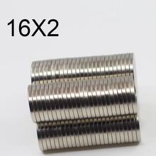 10/20/50/100Pcs 16x2 Neodymium Magnet 16mm x 2mm N35 NdFeB Round Super Powerful Strong Permanent Magnetic imanes Disc 16x2 airwheel покрышка 16x2 125