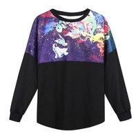 Galaxy przestrzeń bluza kobiety top wysokiej jakości dorywczo drukuj lady damska bluzy odzieży o-neck pullover darmowa wysyłka
