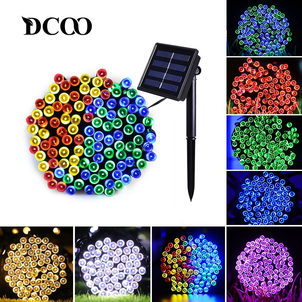 Solar String Lights 50/100/200 LED 8 Modes Solar Powered Xmas Outdoor Indoor Lights Waterproof Starry Christmas Fairy Lights