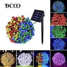 Solar String Lights 50/100/200 LED 8 Modes Powered Xmas Outdoor Indoor Waterproof Starry Christmas Fairy