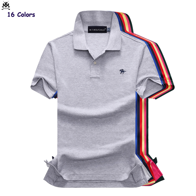 b512f3506a44 Mens polos shirts Summer mens short sleeve small horse polos shirts cotton  mens casual lapel polos shirts fashion mens slim tops