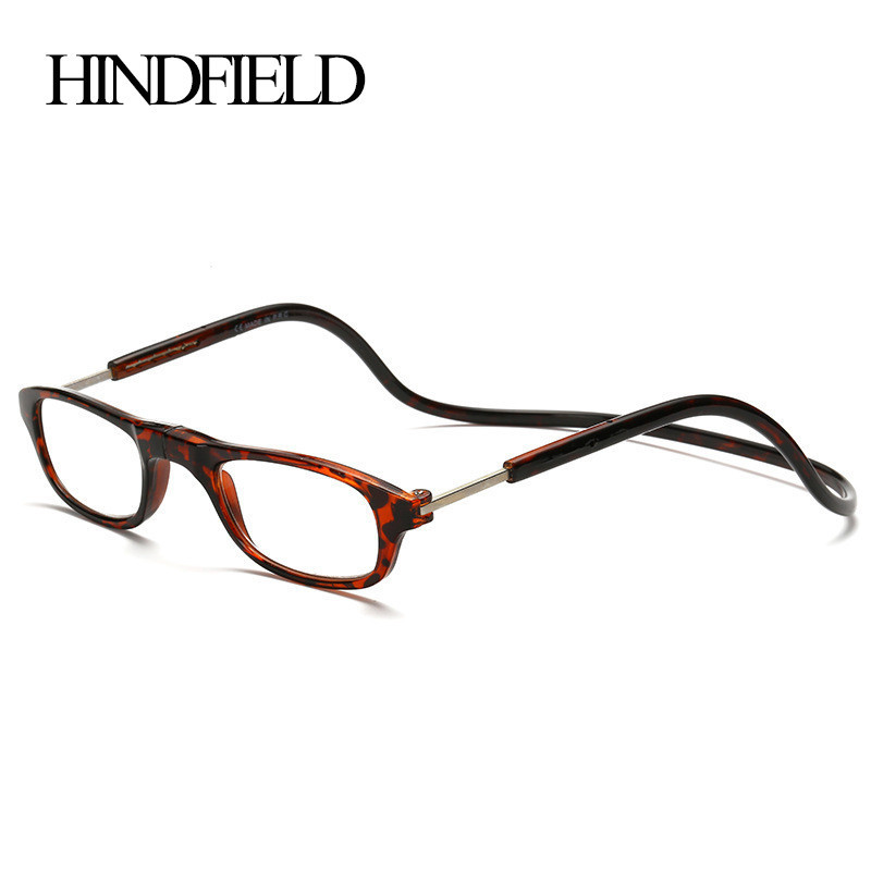 HINDFIELD Fashion Reading Glasses Hang Folding Magnet Reading Prescription frames Simple and easy to carry CJ054