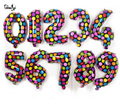 16 polegadas 40 cm metallic pontos coloridos folha de mylar Balões de hélio para o Aniversário Festa de casamento Decoração