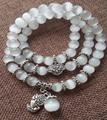 Natural opal beads bracelet brave Buddha pendant vintage women bracelets S925 wholesale jewelry elastic line wristband