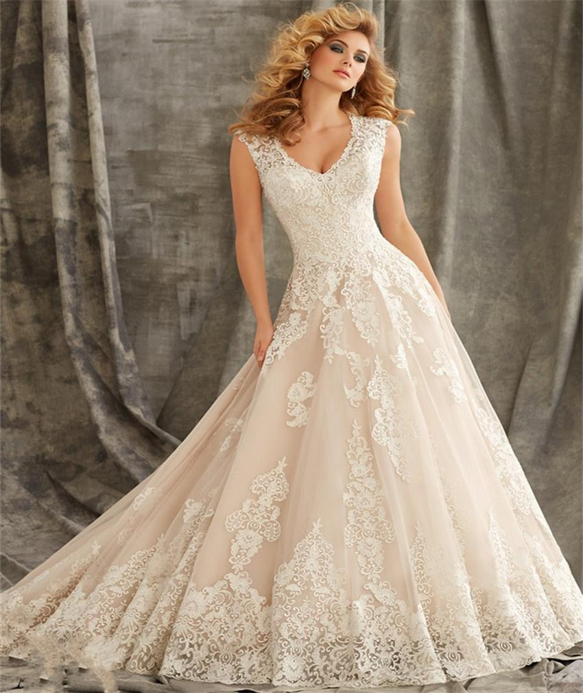 Wedding Used Wedding Dresses popular wedding gowns used buy cheap lots from free shipping ivory color v neck dresses 2017 bridal gown latest plus size