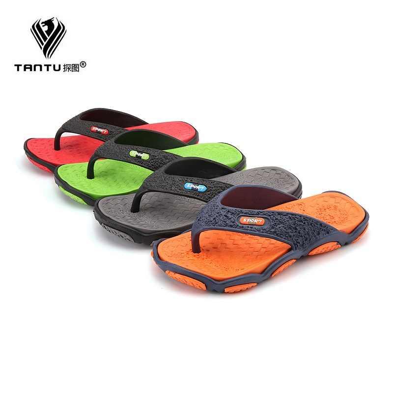 8b777b9aa Slippers Summer Skid Proof Indoors Flip Flops Breathable Waterproof  Bathroom Shoes for Men Beach Sandal Plus