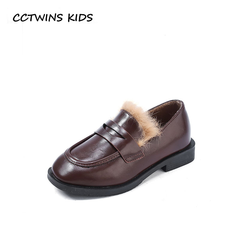 CCTWINS KIDS 2018 Winter Children Pu Leather Loafer Baby Girl Fashion Slip On Shoe Toddler Brand Warm Flat Black GL2000 cctwins kids 2018 girl fashion gladiator sandal children pu leather flat shoe toddler brand barefoot sandal baby bg006