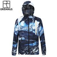 2016 Men Outdoor Waterproof SunscreenClothing Fashion Digital Printing 3D Couple Models Windbreaker Quick Drying Jackets M374