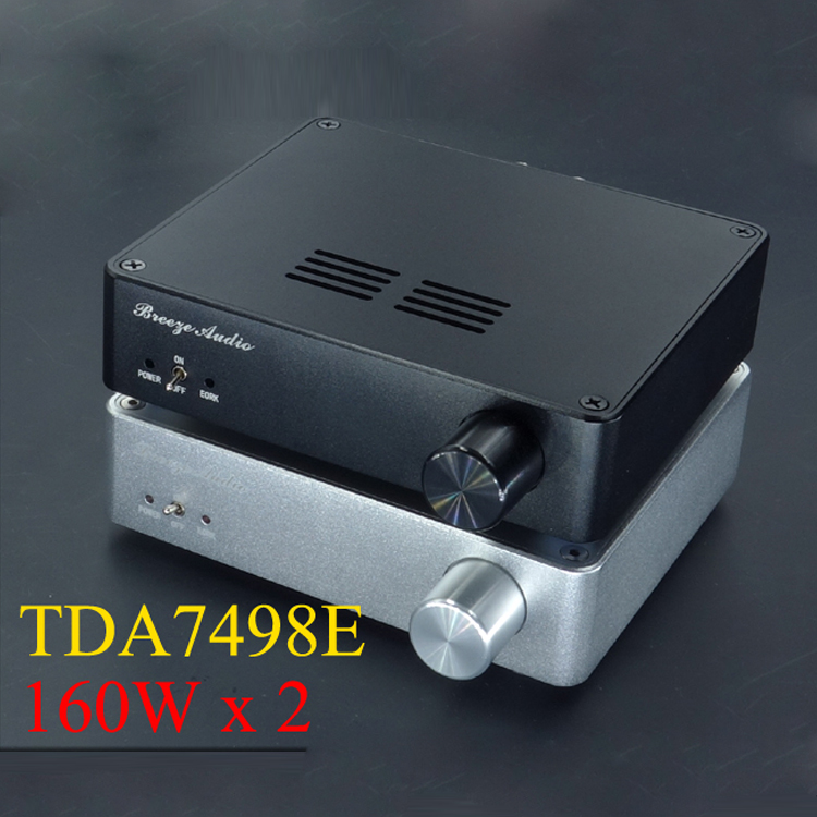 ФОТО 2016 New version Finished TDA7498E 160Wx2 Audio Stereo Digital Power Amplifier Mini Home Class D aluminum amplifier enclosure