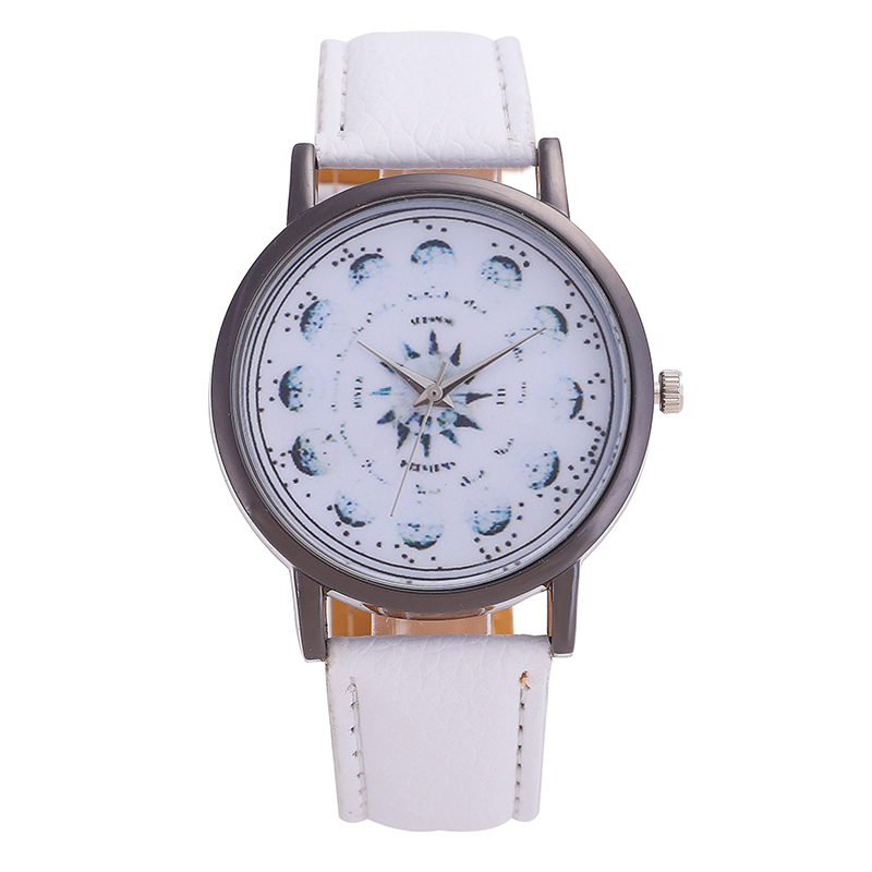 New Men's Watches Brand Ladies Leather Watch Clock Snowflake Stainless Steel Dial Pointer Dial Solid Color Fashion Student Watch