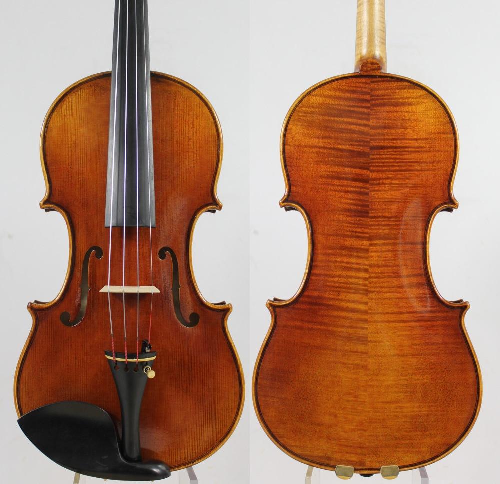 Andrea Amati 1560 Violin Copy! ! Antique Oil Varnish + Case Bow Rosin!Free Shipping!Aubert Bridge!Fine Tone! NO:172