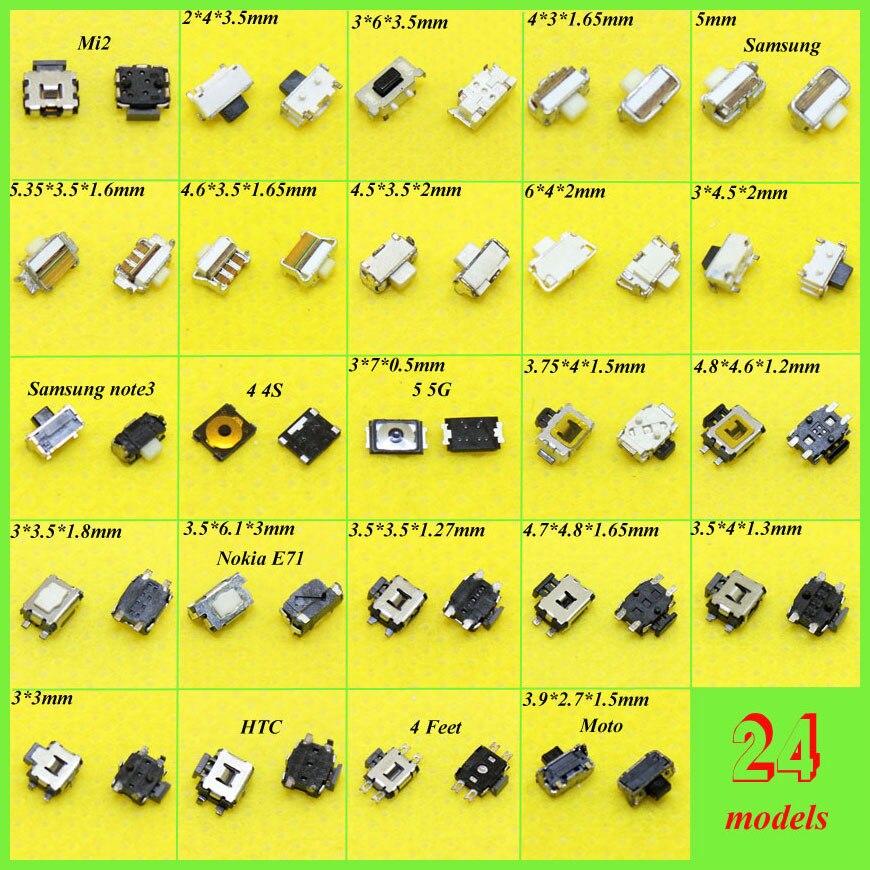 24 Modelos do telefone Móvel Interruptor Tato botão De Energia interruptor de alimentação para Nokia E71 Samsung S2 3 para Iphone 4 4S Tartaruga botão interruptor