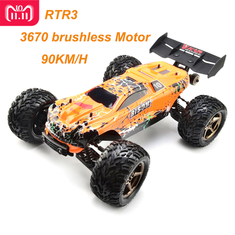 цена на 2017 New VKAR Bison 1:10 Scale Waterproof 4WD Off-Road High Speed Electronics Remote Control Monster Truck RC Racing Cars 90km/H