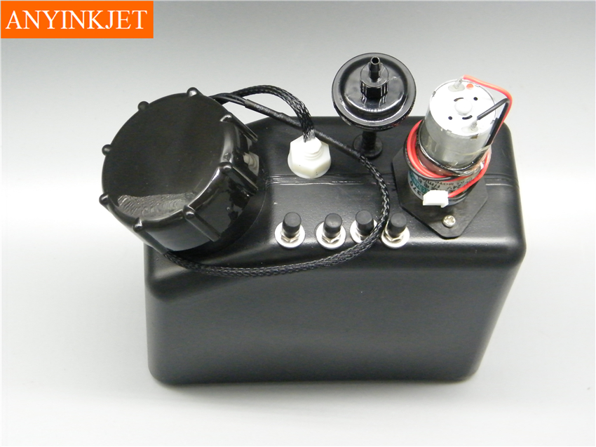 1L UV tank with liquid sensor with stirring motor with filter for UV printer white inks sub ink tank UV bulk tank 4 connector in Printer Parts from Computer Office