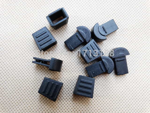 50pcs/pack 18*12mm Detachable Black Plastic Zipper Pull Cord Ends For Paracord Gym Garment Accessories Volume Large
