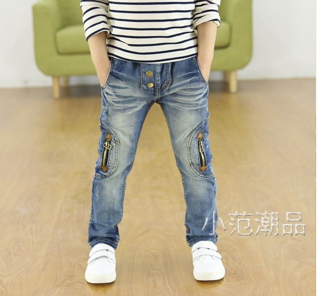 Kids-clothing-2016-Spring-and-Autumn-new-boys-wild-jeans-children-pants (1)