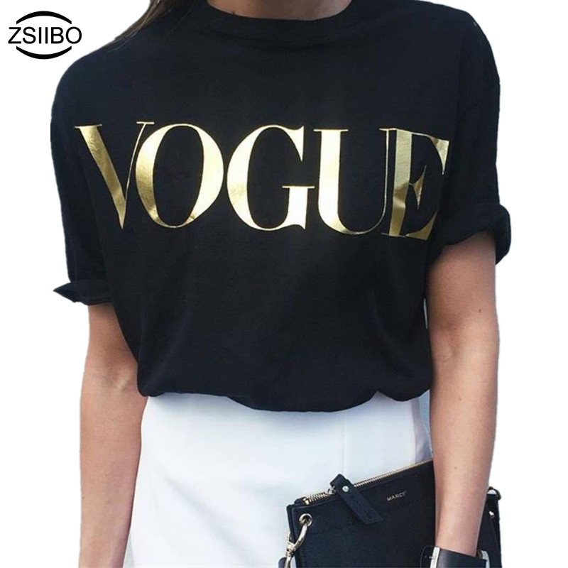 blouse Europe Fashion Brand Glod Shining Letter shirt Women Simple O-Neck Short Sleeve Femme Tops 5 Colors blusa sexi animal print
