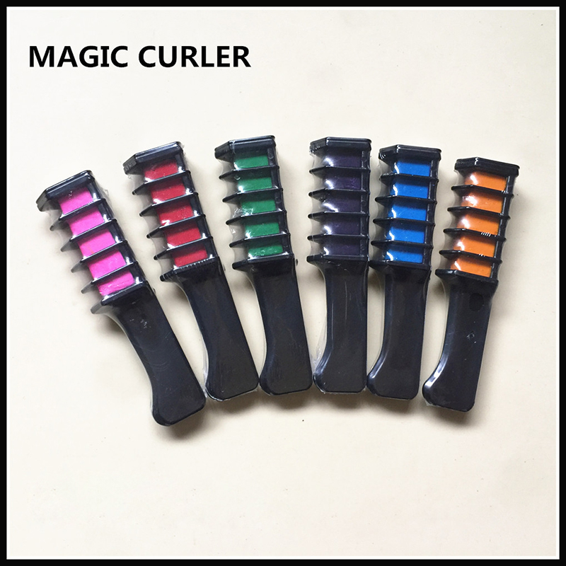 1pc Disposable Hair Color Comb Chalk Semi Permanent Temporary Hair Dye Comb Personal Salon Professional Crayons Hair Dyeing Tool image