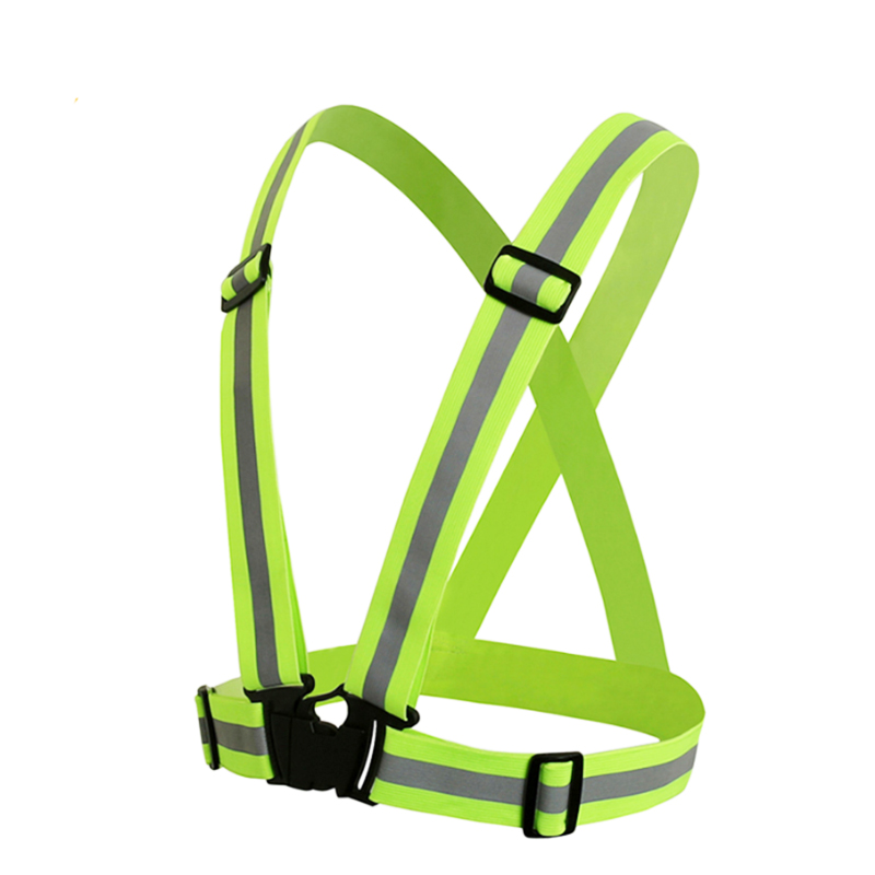 ZK30 High Visibility Unisex Outdoor Safety Vest Reflective Belt Safety Vest Fit For Running Cycling Sports Outdoor Clothes