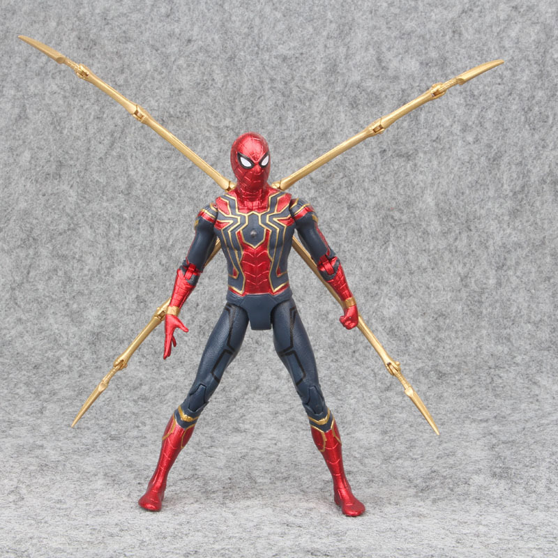 17cm Marvel 2019 The Avengers 3 Infinity War Iron Spider Man Amazing Spiderman Movable Action Figure Model Toys For Children
