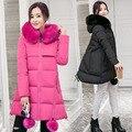 Ucrania Venta Spandex Fino En El Invierno De 2016 Nuevas mujeres Muchachas de la capa Larga de Corea Alumnas En Nombre De Un Acolchado chaqueta