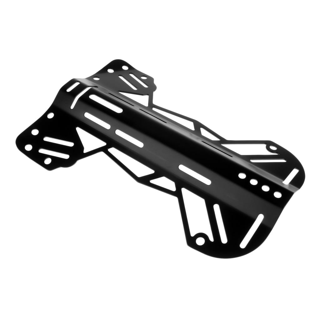 Plaque arrière en aluminium forte pour le remplacement de vitesse de système de harnais de BCD de plongeur de plongée, noir - 3