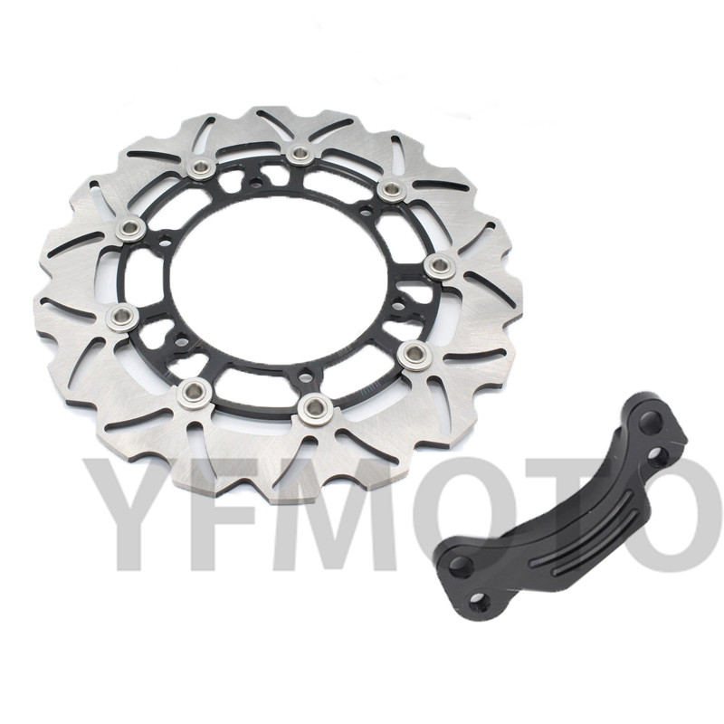 1pcs Motorcycle Rear Brake Disc Rotor For TMAX500 TMAX 500 2008-2013 09 10 11 12 Black Side  Free Shipping 1 pcs motorcycle rear brake disc rotor for tmax500 tmax 500 2008 2009 2010 2011 2012 2013 red free shipping