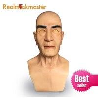 Realmaskmaster Реалистичная силиконовая маска на Хэллоуин для вечерние мужчин вечеринок искусственный латекс для взрослых полный Вечерние уход з