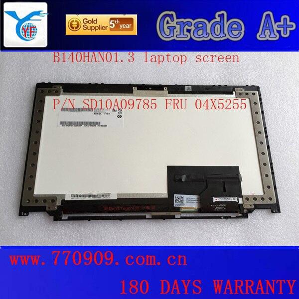 14.0 дюймов ноутбук с сенсорным экраном B140HAN01.3 00HM080 FRU 04X5910 04X5911 для T440S ЖК-модуль FHD 1920*1080