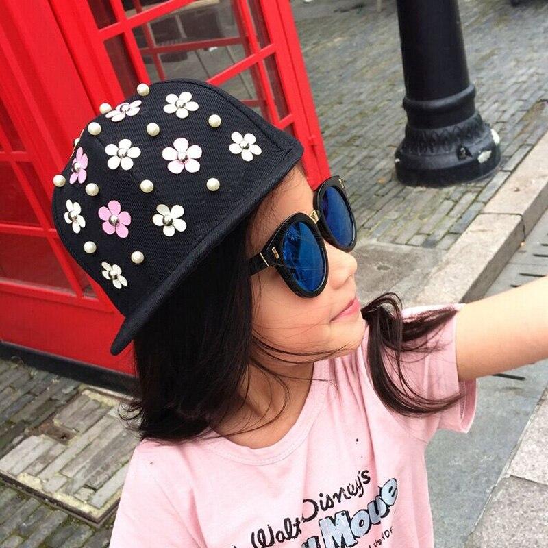 1 Pcs 2016 New Fashion Joker Children Baseball Cap Snapback Spring Summer Rivet Hip-hop Caps For Boy And Girl Size52-54cm