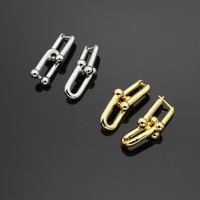 High Quality Titanium Steel Fashion Gold/Silver Earrings High Quality Earrings For Woman Party Wedding Jewelry Boucle