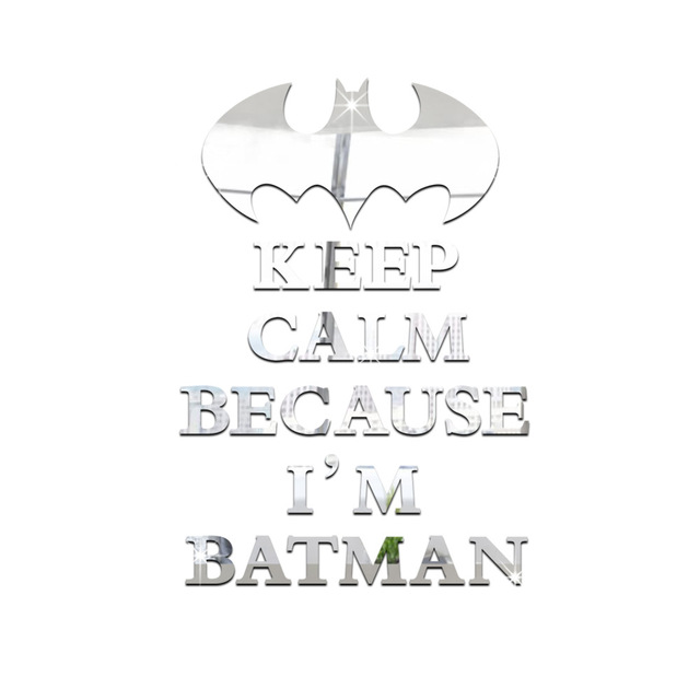 Keep calm because im batman wall sticker 3050 cm plastic wall stickers