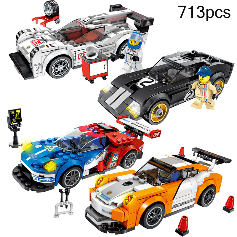 City Super Racers Compatible Legoed Speed Champions Supercar Racing Car Model Building Blocks DIY Bricks Child Kids Toys Gifts single sale pirate suit batman bruce wayne classic tv batcave super heroes minifigures model building blocks kids toys gifts