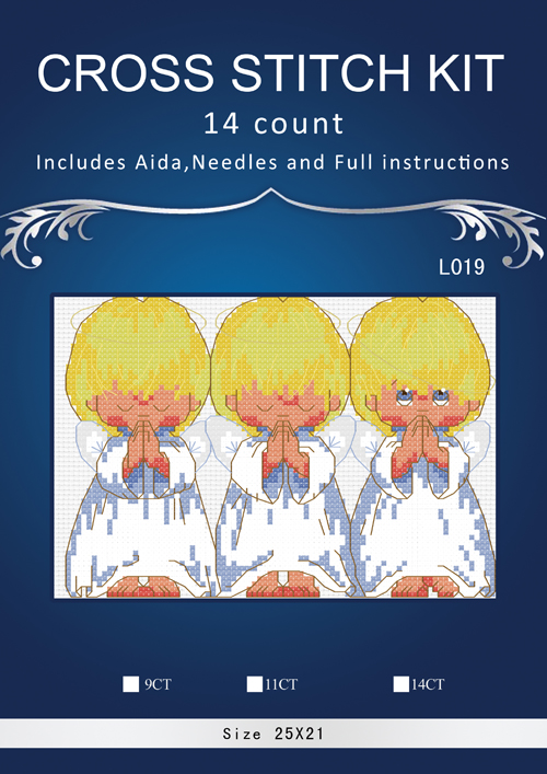 DIM--16633 Almost Perfect FREE Shipping Top Quality Popular Counted Cross Stitch Kit Almost Perfect 3 Little Angels 14CT
