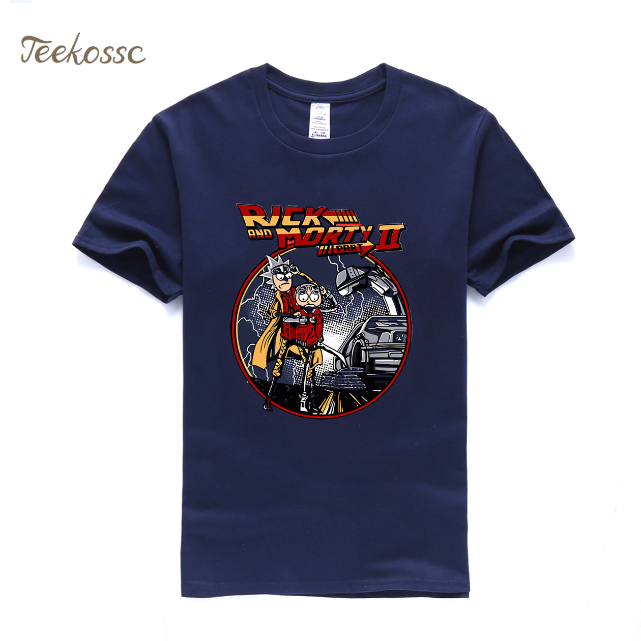 Rick and Morty T Shirt Men Back To The Future Tshirt Mens 2018 Summer Tops Tee Funny Shirts Swag T-Shirt Anime Hip Hop Streewear