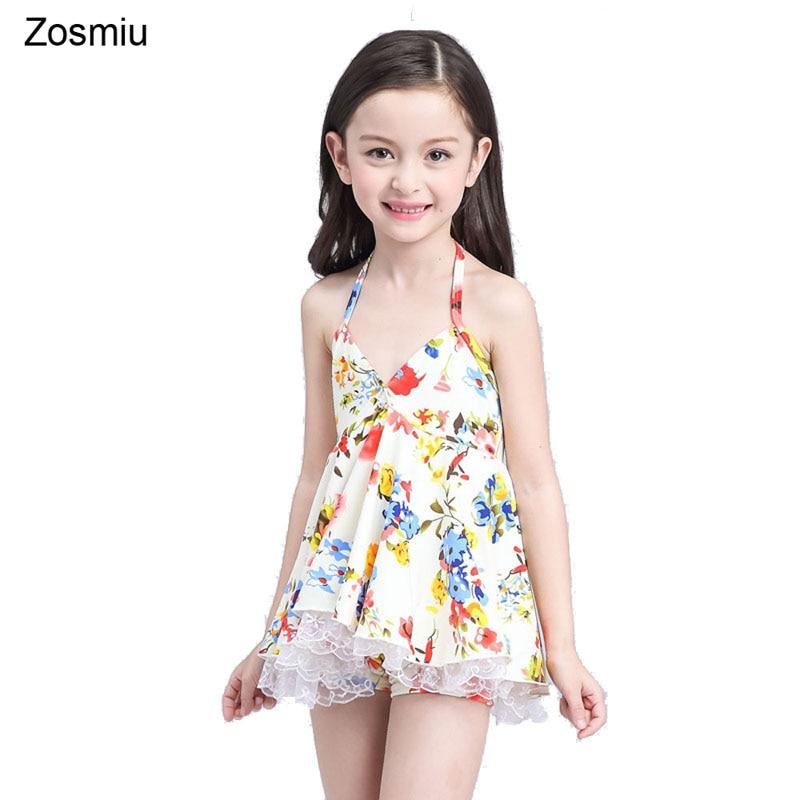 Zosmiu Beautiful Kids Swimwear Girls Skirt Swimsuit Baby -8385