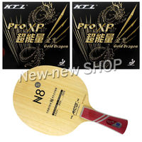 Galaxy YINHE N8s Blade with 2x KTL Pro XP Gold Dragon Rubbers for a Racket shakehand long handle FL