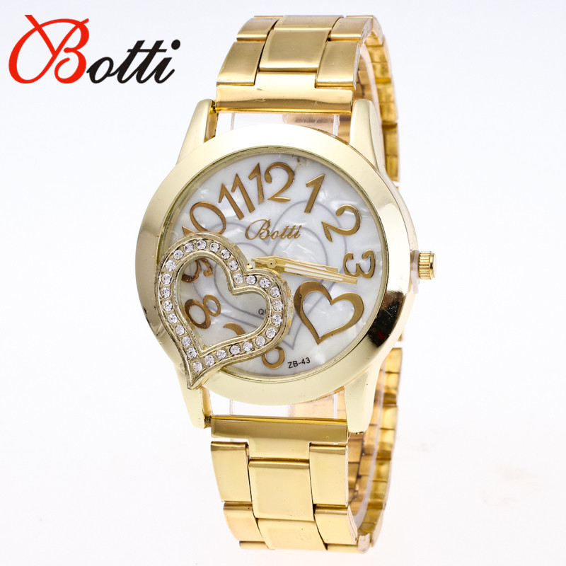 New Ybotti Famous Top Brand Gold Crown Casual Quartz Watch Women Stainless Steel Watches Relogio Feminino Ladies Clock Hot Sale 2016 new brand gold crystal casual quartz watch women stainless steel dress watches relogio feminino female clock hot 77