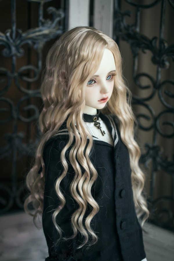BJD кукла парики имитация мохер волна волос для 1/6 1/4 1/3 BJD DD аксессуары для кукол SD Мягкие Парики из натуральных волос