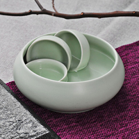 Ru Kiln Tea Wash Large Capacity Pen Wash Cup Wash Bowl Wash Chinese Celadon Teacup Food Kitchen coffee & tea tools D023 2