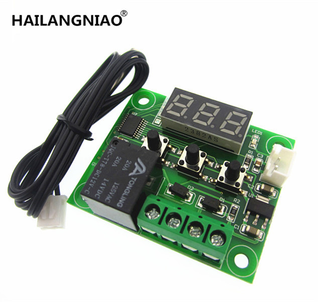 1pcs W1209 Mini thermostat Temperature controller Incubation thermostat temperature control switch taie thermostat fy400 temperature control table fy400 301000