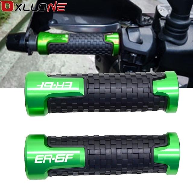 22mm האוניברסלי אופנוע רכיב ידית בר כידון החלקה גומי יד בר כידון עבור KAWASAKI ER6F E R 6F E R 6 F 2006 2018