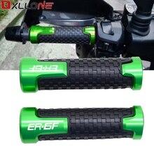 Empuñaduras universales de 22mm para manillar de motocicleta, mangos de goma antideslizantes para KAWASAKI ER6F E R 6F E R 6 F 2006 2018