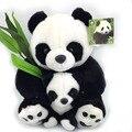 30 см гостиная мать и детеныша панды плюшевые игрушки панда куклы мягкие подушки прекрасный игрушка высокое качество бесплатная доставка NT029E