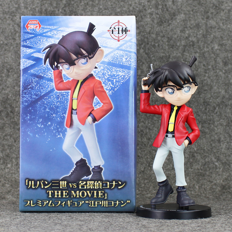 Anime Detective Conan Red Suit PVC Action Figure Conan Model Brinquedos Collection Toys Dolls Gifts For Kids 19cm цена 2016