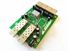 SFP 2 Fiber and 4 UTP Ports Fiber Media Converter Fiber Switch,4 RJ45+2Fiber 4 RJ45+2(1*9) port,with single mode single fiber