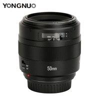 YONGNUO 50 мм объектив YN50mm F1.4 Стандартный объектив с фиксированным фокусным расстоянием большой апертурой автоматической фокусировки объектив