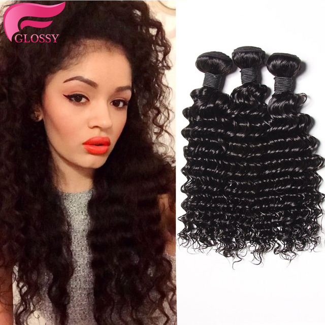 Peruvian Virgin Hair Deep Wave 3pcs Lot Peruvian Deep Curly Weave