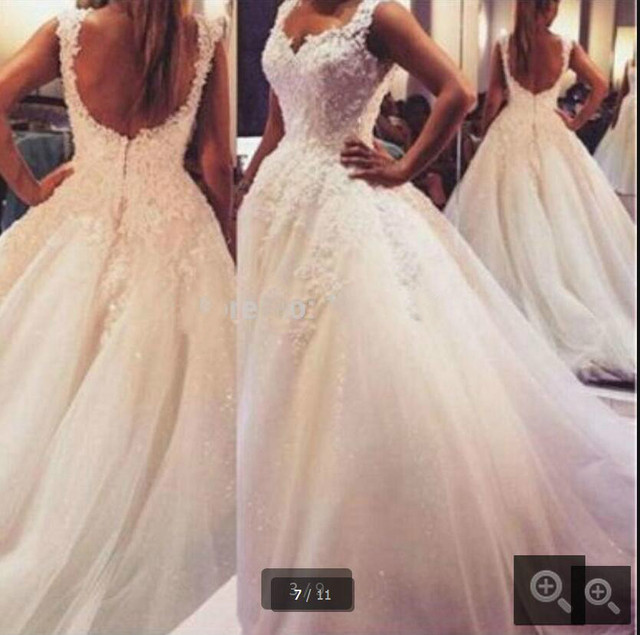 Ball Gown Bride Dresses Open Back Sexy Plus Size Wedding Dress Princess Style With Lovely Lace